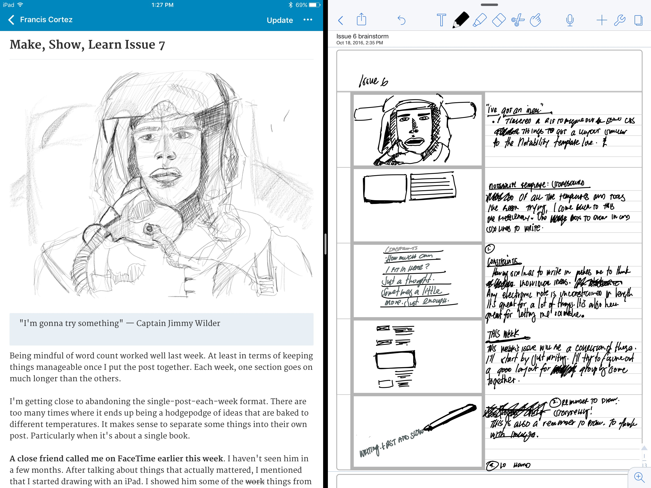 Coloring book for notability - I Ve Been Brainstorming In Notability It S One Of My Favorite Things To Do There S A Template I Ve Been Using That S A Vertical Storyboard
